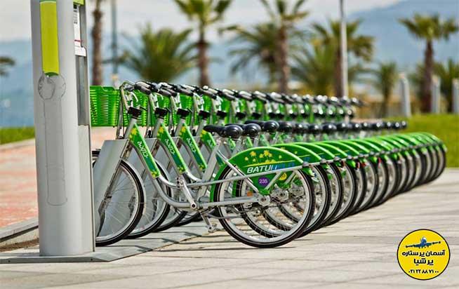 ایستگاه دوچرخه بلوار باتومی گرجستان