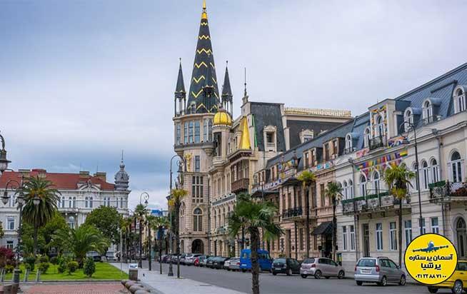 بناهای دور میدان اروپا باتومی گرجستان