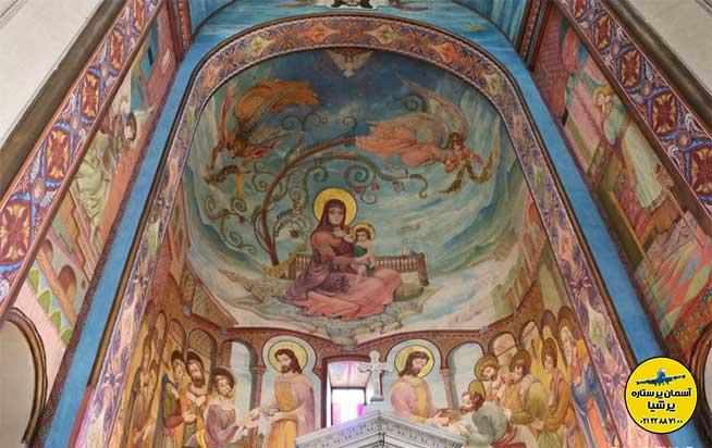 طراحی داخلی کلیسای کاشوتی تفلیس گرجستان