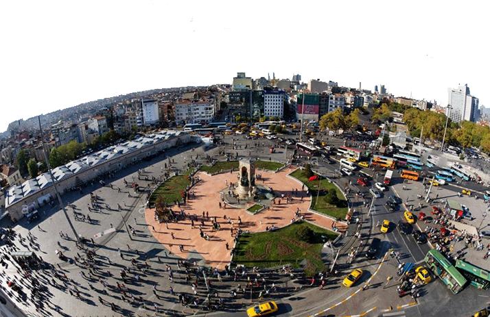 موقعیت جغرافیایی میدان تکسیم استانبول