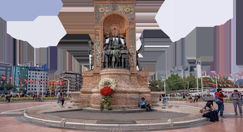 تاریخچه و معماری میدان تکسیم استانبول