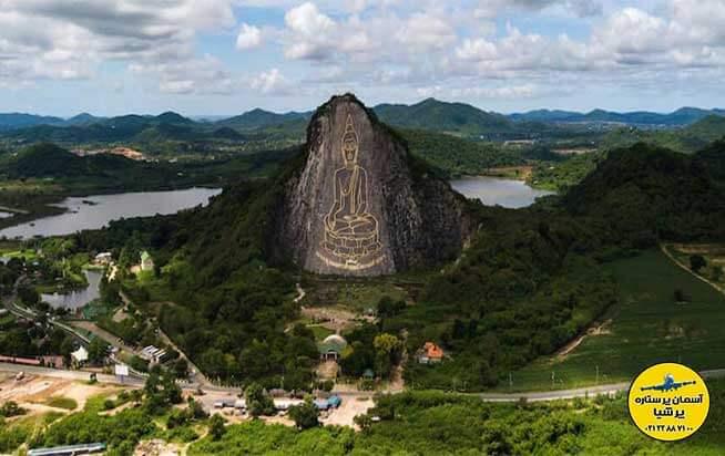 کوهستان حکاکی شده تصویر بودا خوچی چن