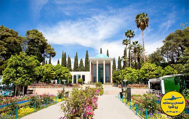آرامگاه سعدی در تور شیراز