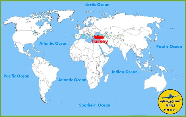 موقعیت جفرافیایی ترکیه