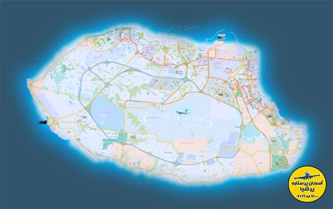 موقعیت جغرافیایی تور کیش